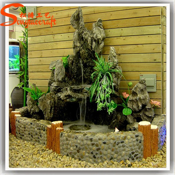 Asian fountain indoor wall