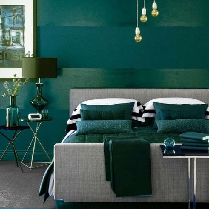 Dark Bedroom Ideas Navy Blue Salad Green And