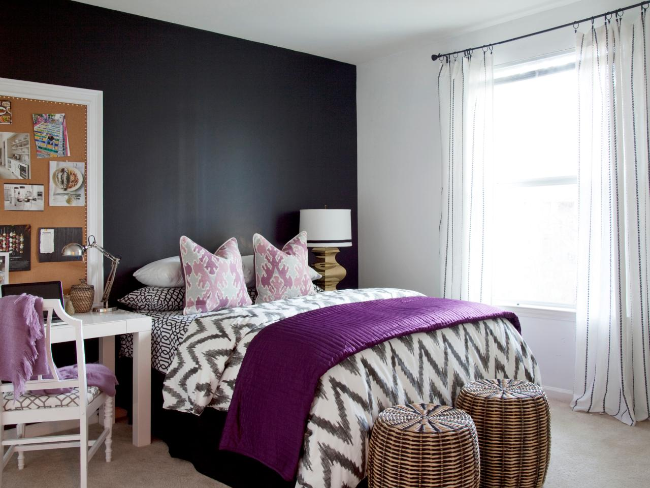 Black and white bedroom ideas for young adults Modern Bedroom Dark Violet Hikendip 13 Clever Blend Of Texture And Colour Ideas To Add Worth And