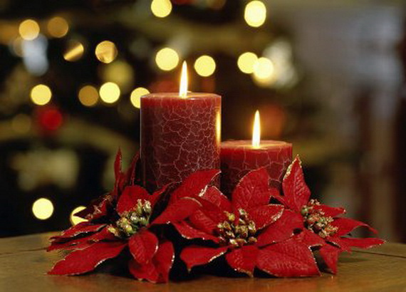 christmas candle dcor ideas - Christmas Candle Decorations