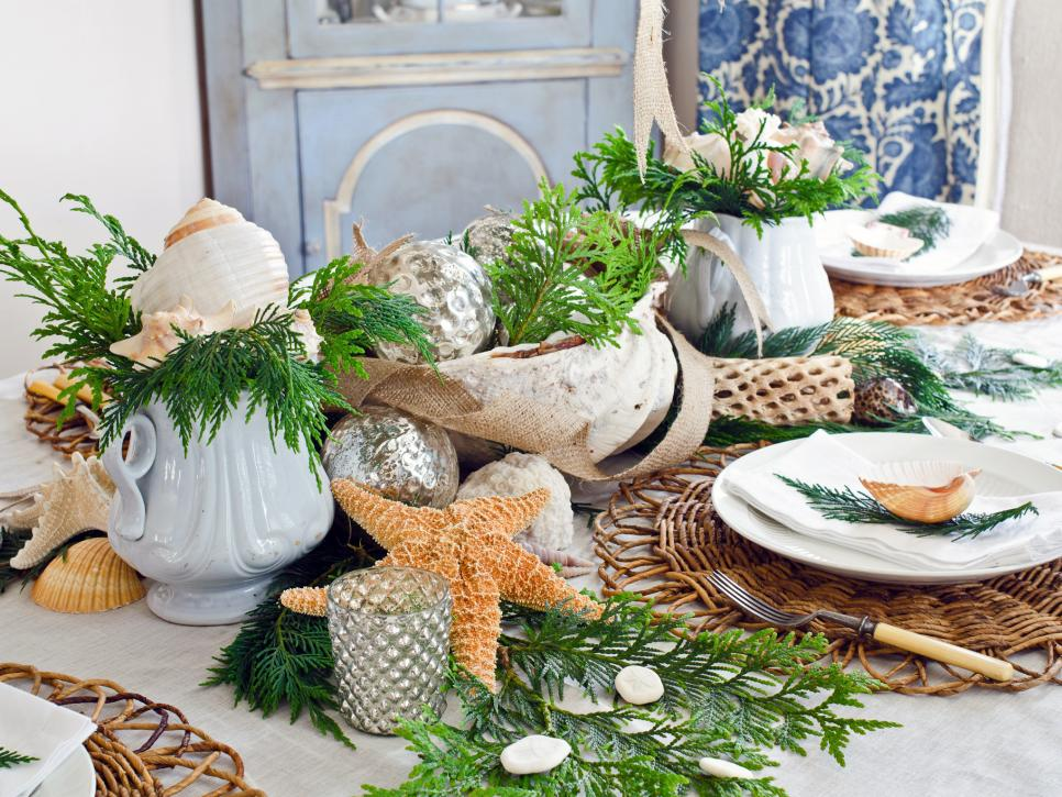 seaside christmas party dcor ideas - Beach Christmas Decorating Ideas
