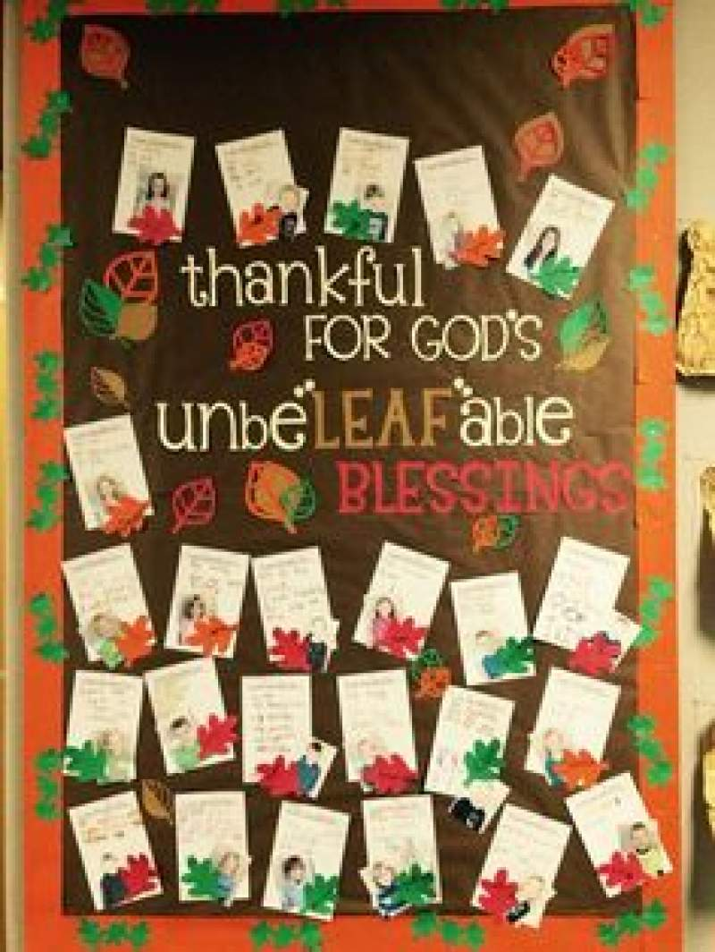 lovely Thanksgiving Bulletin Boards For Church Part - 14: Unbelievably Cute Thanksgiving Bulletin Board ideas youu0027ll fall in love with