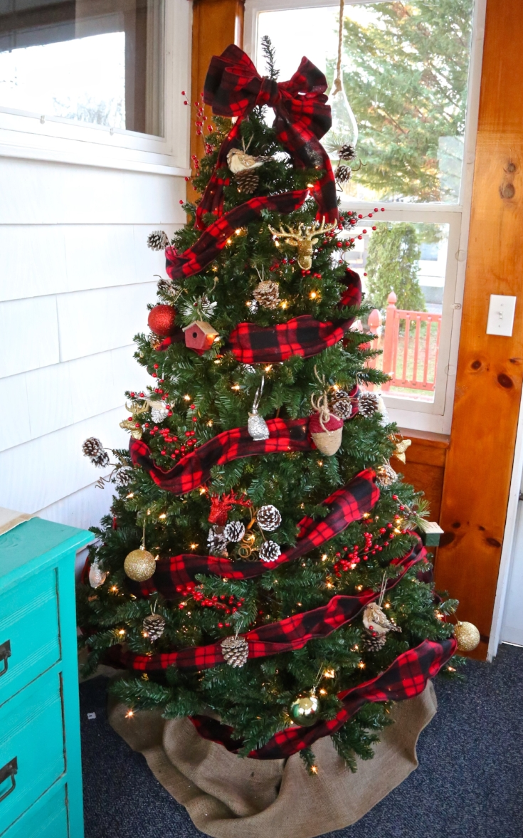 buffalo plaid christmas tree buffalo plaid christmas decor