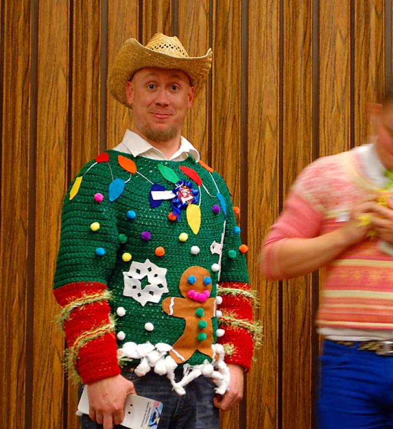 Tacky Christmas Outfits.Funny Ugly Christmas Sweater Ideas For Women Men Couples