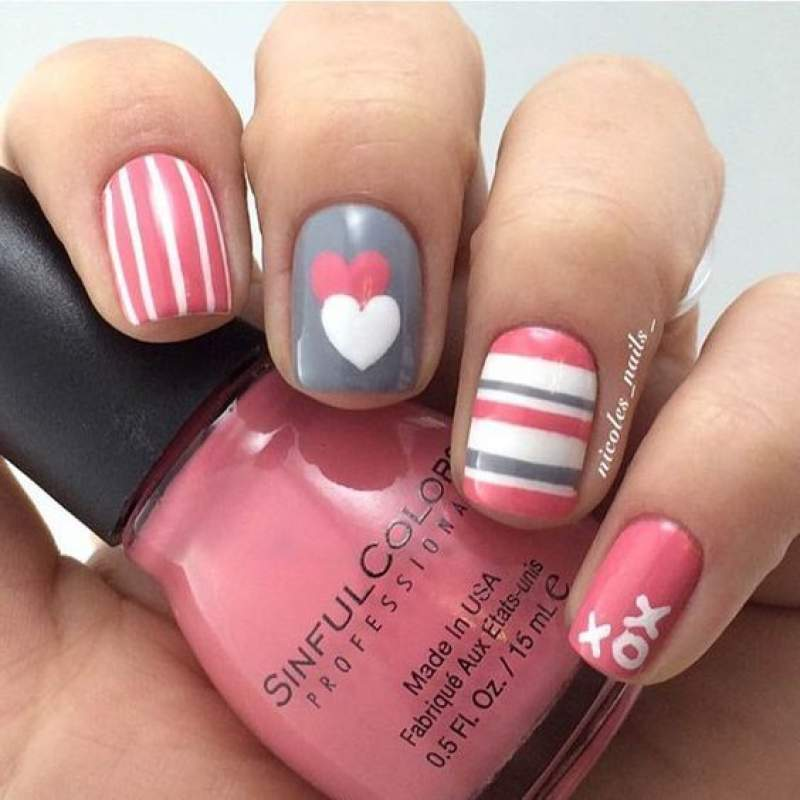 Last Minute Pictures of Valentine\'s Day Nails you cannot miss out on ...