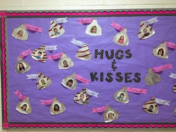 Valentijnsdag bulletin board ideeën