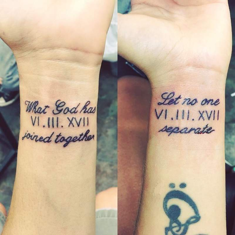 Matching Couples Tattoos Inspo Because Relationshipmatters