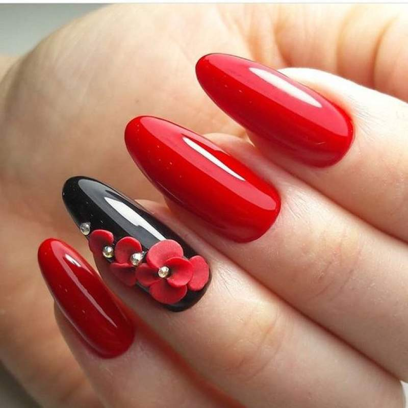 Red Nail Art: Red Nail Art For Valentines Day: Eclectic Stories Of Red