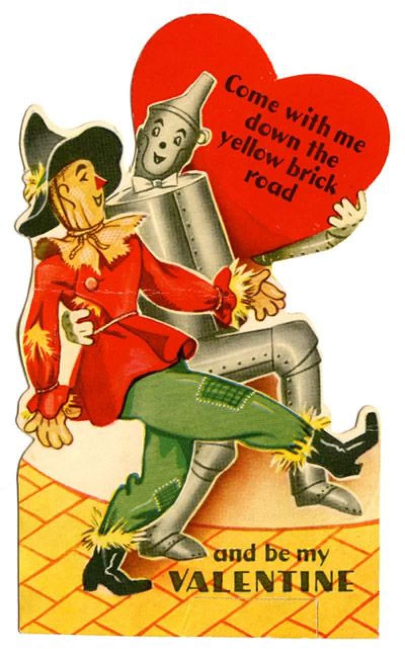 Vintage Valentijnsdag kaarten