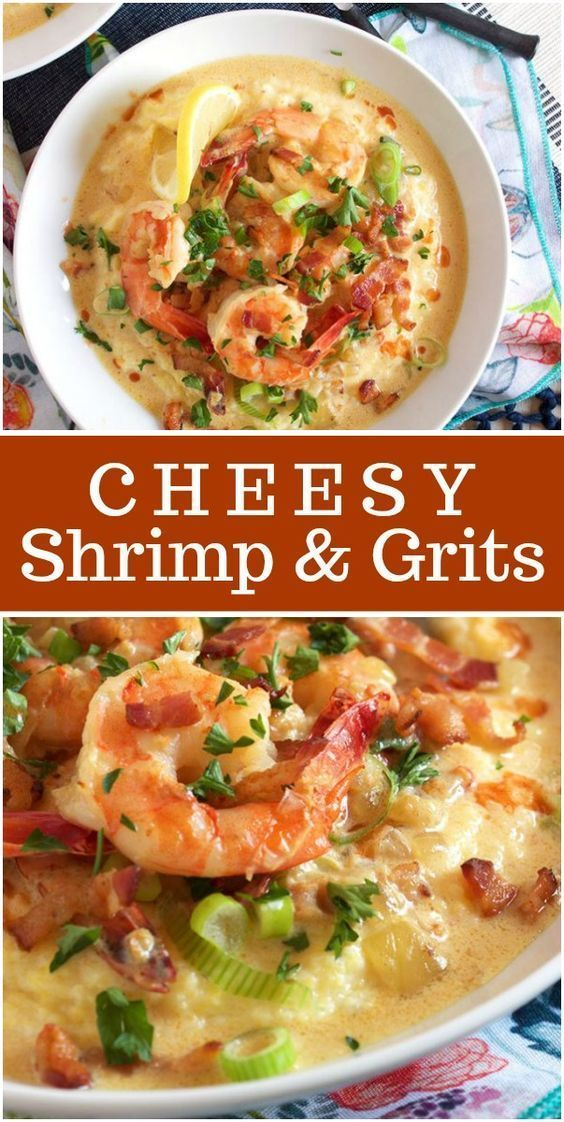 Cheesy Shrimps and Grits