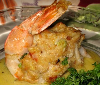 Crabmeat stuffed shrimp