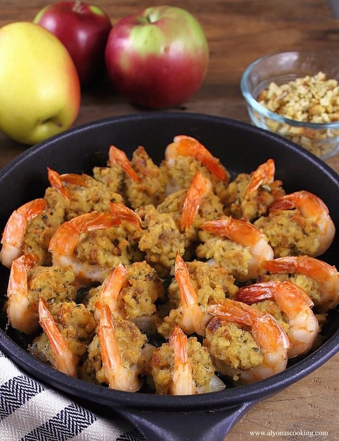 Stuffed baked Jumbo Shrimps