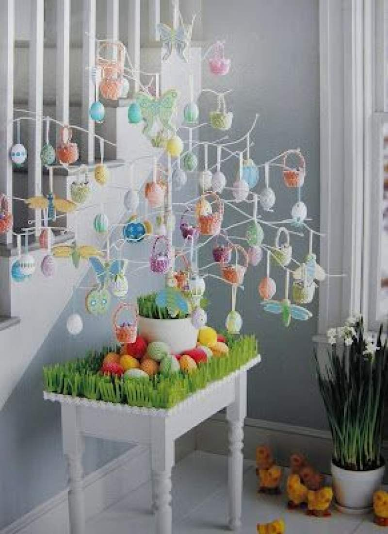 21 Easter Egg Tree Decorations Ideas That Are Cheerful