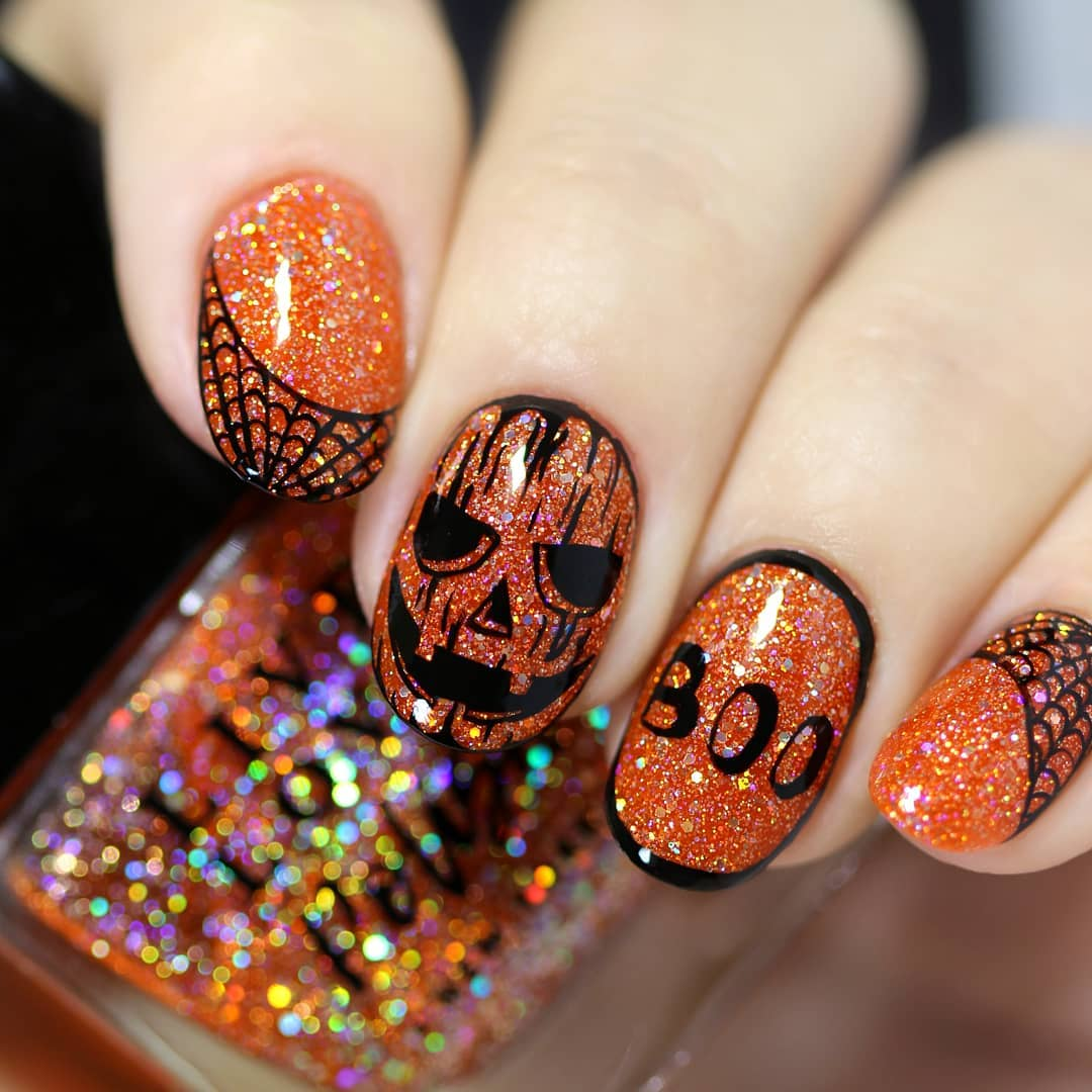 90+ DIY Halloween Nail Art Ideas to get that spooky affair ...