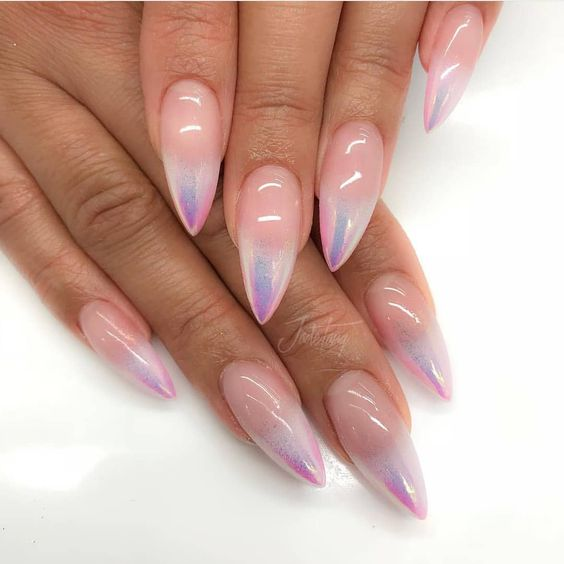 Holo Ombre Nail Art is the latest 2019 Manicure trend that's