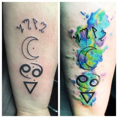 Cancer Zodiac Tattoos