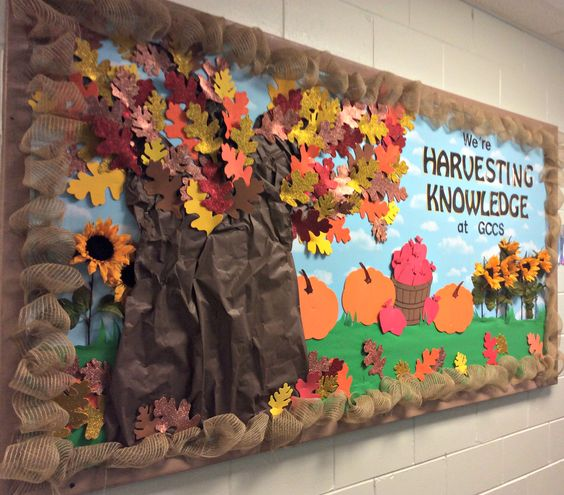 30 Fall Bulletin Board Ideas Which Are Colorful Meaningful