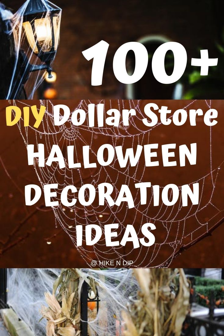 100 Cheap DIY Dollar Store Halloween Decoration ideas to