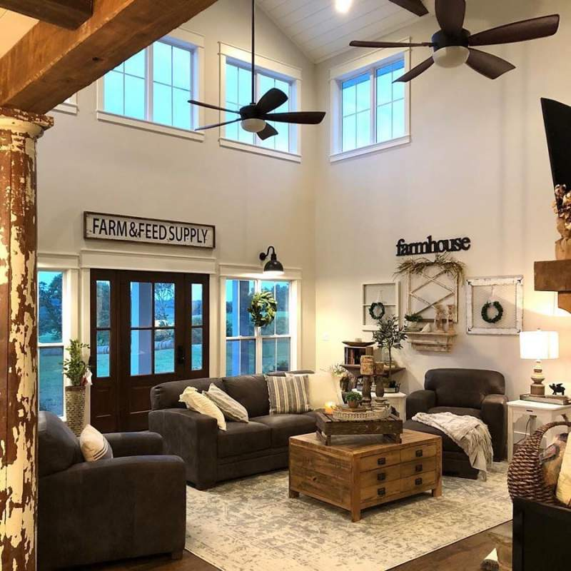 10 Modern Farmhouse Living Room Ideas: 30 Farmhouse Living Room Decor Ideas To Give Your Guests A
