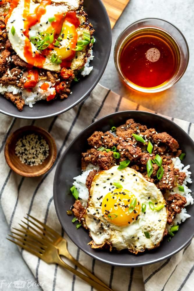 beef ground korean recipes dinner bowls recipe keto rice easy healthy egg bowl fox bulgogi quick cauliflower using briar weeknight