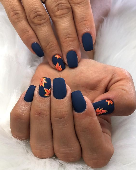 50 Fall Nail Art ideas and Autumn Color Combos to try on