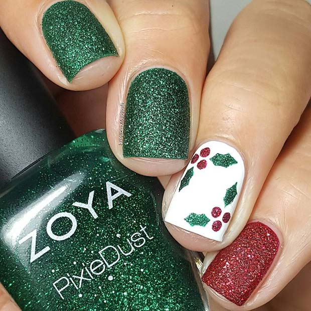 Christmas Nails Green And Red: 90+ Christmas Nail Art Designs Which Are Perfect For The