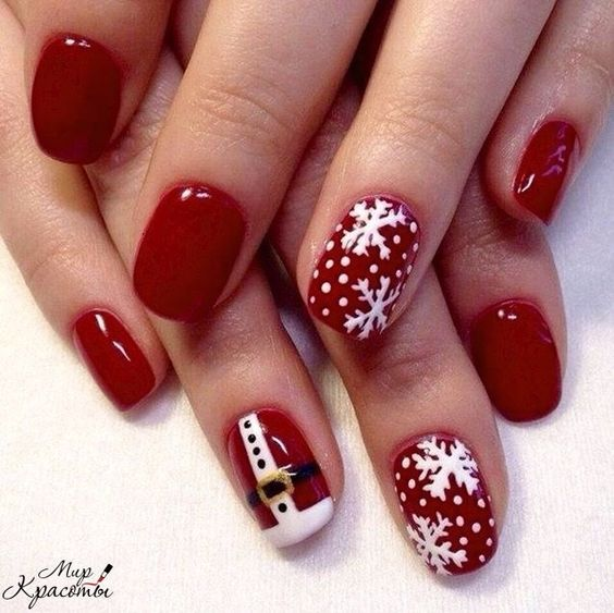 90+ Christmas Nail Art Designs Which Are perfect for the