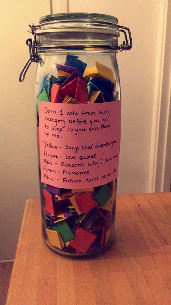 Jar Of Notes Ideas For Boyfriend Easy