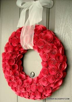 DIY Valentijnsdag krans