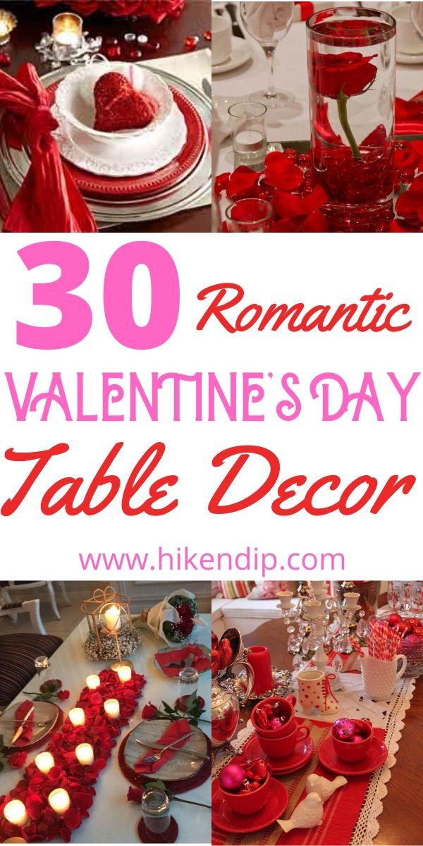 Romantisch Valentijnsdag tafeldecor